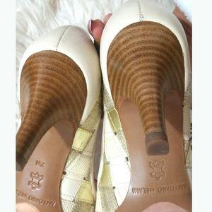 Shoes - ANTONIO MELANI Woven Elegant  Pointy toe pump heel
